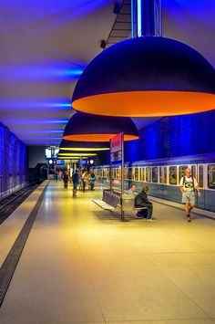The Most Inspiring Metro Stations around the World, Westfriedhof Station, Munich (Germany), via i.imgur