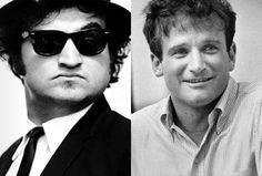 John Belushi and Robin Williams