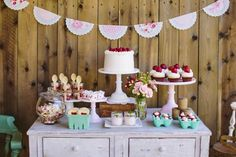 The TomKat Studio: Avery's Sweet Strawberry Birthday Party