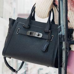 771b3945dfd5 Coach Swagger Carryall in Nubuck Pebble Leather Cheap Coach Purse Handbags