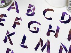 it's designed • Watercolour typography photos