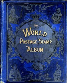 Gorgeous Old Stamp Album Cover - nice art nouveau style - I want it!
