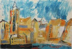 Buy mediterrean harbour city 27,5 x 39,4 inch, Oil painting by Max  Müller on Artfinder. Discover thousands of other original paintings, prints, sculptures and photography from independent artists.