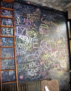 i want the chalk board in my room to end up like this:)