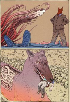 April 16 2016 at tomorrowandbeyond. Jean Giraud, Science Fiction, Illustrations, Illustration Art, Moebius Art, Ligne Claire, Bd Comics, Art Graphique, Comic Artist