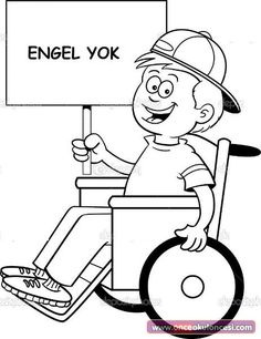 Athlete Basketball Disabilities Coloring Page