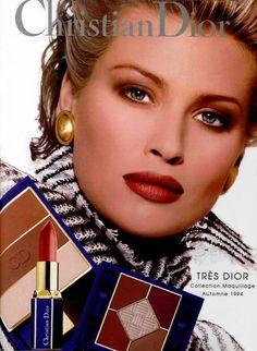1990s make up ads | daniela pestova christian dior makeup ad 1994