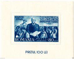 1946 Romania block Michel nr.31 (75x60mm) RARE