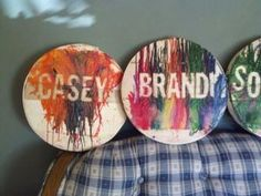 personalized melted crayon art.