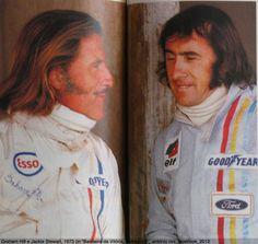 1973 - Graham Hill and Jackie Stewart torn racers nog mannen waren lol F1 Racing, Road Racing, Le Mans, F1 Motor, Jochen Rindt, Jackie Stewart, Gilles Villeneuve, Formula 1 Car, F1 Drivers