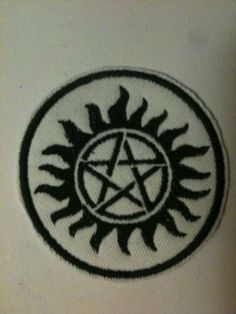 Supernatural antipossession symbol sew on patch by AtomicWear, $10.00