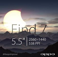 Oppo is once again teasing the resolution of its new Find 7 smartphone. We hope there's more to the phone than just a good quality screen...