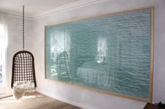 """from his """"on the beach"""" series, a large-scale framed photographic work by richard misrach (c. sept. '01), displayed in the 2010 san francisco decorator showcase, by wickdesign.com (photo by casa sugar) (HT annesage.com)"""