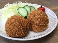 作らなきゃ損!絶品☆揚げないコロッケ Some Recipe, Bento, Sushi, Vegan Recipes, Tasty, Homemade, Meals, Vegetables, Cooking Ideas