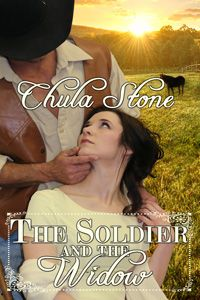 The Soldier and the Widow by Chula Stone http://www.stormynightpublications.com/the-soldier-and-the-widow-by-chula-stone/  The Soldier and the Widow contains spankings of an adult woman, including domestic discipline in a historical setting.
