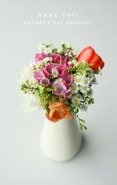 Make this pretty little arrangement for Mom!