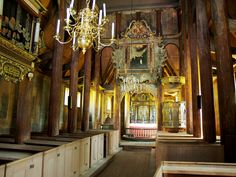 The interior of the Kaupanger Church was greatly revised in the late 1600's.