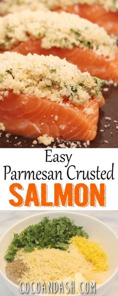 This PARMESAN CRUSTED SALMON is so easy and flavorful!! This is going to be dinner tonight!!