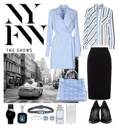 """NYFW."" by lynnbain ❤ liked on Polyvore featuring Valenz Handmade, Versace, Phillip Gavriel, Rado, MSGM, Roland Mouret, MM6 Maison Margiela, Thomas Sabo, Cartier and Emporio Armani"