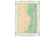 Long Beach Island Map on OneKingsLane.com
