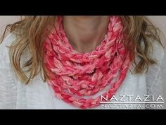 DIY Learn How to Make Infinity Scarf Circle Loop Cowl Beginner Finger Crochet Chain Arm Knitting, My