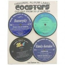 Vintage Record Coasters $29.95 - Funky coasters made from original 33LP albums