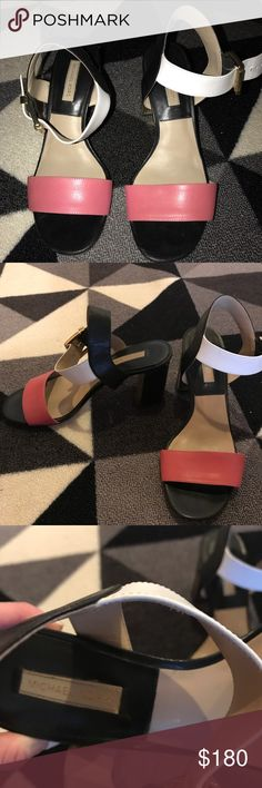 Michael kors runway collection block heel Michael kors runway collection color-block heel - gently used - size 37.5 - 7.5 Michael Kors Collection Shoes Heels