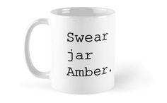 Upper Middle Bogan - Swear jar Amber Mugs