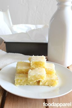 Lemon Blondies - it's like a lemon bar with the crust and curd all rolled into one. So good and way faster to make!