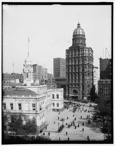 City Hall and New York World building, NYC New York Pictures, Old Pictures, Old Photos, Vintage Photos, Michigan, Vintage Architecture, Historic Architecture, Amazing Architecture, Vintage New York