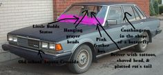"""Is this car owned by an Australian bikie? Its the perfect """"Bogan"""" car. Note: when blogging on the topic of Australian Bikies only use Bogan images to avoid starting world war three. Toyota Cressida, Shaved Head, World War, Old School, Car, Blogging, Note, Shaved Heads, Automobile"""