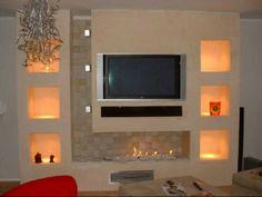 Ceiling Design Living Room, False Ceiling Design, Living Room Tv, Interior Design Living Room, Living Room Designs, Living Room Shelves, Lcd Wall Design, Tv Unit Furniture, Modern Tv Wall Units