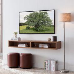 Floating Media Console, Wall Mounted Media Console, Floating Shelf Under Tv, Floating Wall, Shelves Under Tv, Wall Mounted Tv Unit, Floating Tv Unit, Mounted Tv Decor, Bedroom Tv Wall