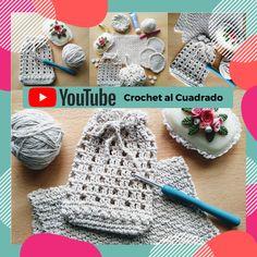 """☝️Hoy tejemos una bolsita al crochet. En ella podés guardar, por ejemplo, un jabón o discos desmaquillantes.  ⠀⠀⠀ Solo necesitás saber: ☑️ Punto cadena⠀⠀⠀ ☑️ Punto raso (enano) ☑️ Medio punto (punto bajo) ☑️ Vareta (punto alto) ☑️ Vareta doble (punto alto doble) ⠀⠀⠀ Material: ✔20g. de hilo de algodón. ⠀⠀⠀ Es el 2º de 5 proyectos que conforman el """"Set de Baño"""". ⠀⠀⠀ #crochet #ganchillo #crochetprincipiantes #crochetalcuadrado #setdebañocrochet #bolsitabañoC2 Crochet Hats, Sewing, Chain, Crocheting, Dots, Blue Prints, Knitting Hats, Dressmaking, Couture"""