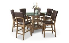 Cordova Glass & Wood Counter Dining Set – My Furniture Place