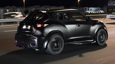 Nissan Juke-R, normally an ugly car but this one looks pretty good. Black on black.