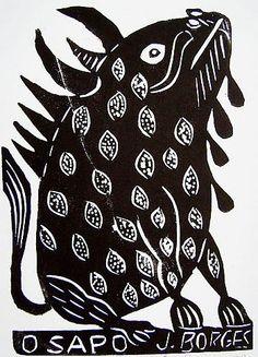 O Sapo. Xilogravura de J. Borges