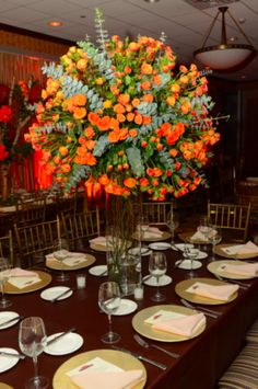 Beautiful orange roses from United Floral.