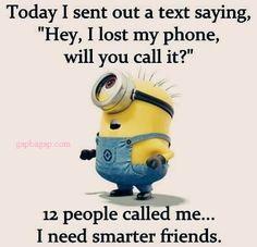 Funny Minion Joke About Friends