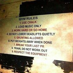 We demand that you start following these rules. It is #humpday so get after it! #crossfit