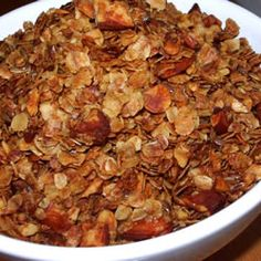 Honey Nut Granola (easy, and so yummy). I've made this lots of different ways, including nut free so Cassy could take it to school.