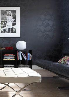Black monochrome design wall paper.