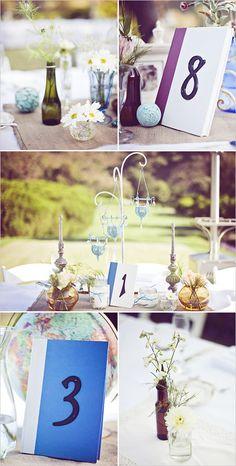 Sundae cups, Perrier bottles, decoration balls (ikea)