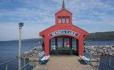 The pier at Watkins Glen, NY, on Seneca Lake. (From: Budget Travel Photos: Coolest Small Towns 2013)