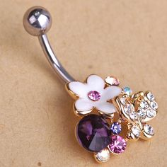 """Esmalte Enamel Flowers Butterfly Navel Belly Button Rings Body Piercings Pretty Violetta Rhinestone For Women piercing nombril $9.85 WOWGet it here ---> www.fancyjewelrie... <a class=""""pintag searchlink"""" data-query=""""%23Ring"""" data-type=""""hashtag"""" href=""""/search/?q=%23Ring&rs=hashtag"""" rel=""""nofollow"""" title=""""#Ring search Pinterest"""">#Ring</a> <a class=""""pintag"""" href=""""/explore/Jewelry/"""" title=""""#Jewelry explore Pinterest"""">#Jewelry</a> <a class=""""pintag"""" href=""""/explore/homemade/"""" title=""""#homemade explore Pinterest"""">#homemade</a> <a class=""""pintag searchlink"""" data-query=""""%23shop"""" data-type=""""hashtag"""" href=""""/search/?q=%23shop&rs=hashtag"""" rel=""""nofollow"""" title=""""#shop search Pinterest"""">#shop</a> <a class=""""pintag"""" href=""""/explore/beauty/"""" title=""""#beauty explore Pinterest"""">#beauty</a> <a class=""""pintag searchlink"""" data-query=""""%23Woman"""" data-type=""""hashtag"""" href=""""/search/?q=%23Woman&rs=hashtag"""" rel=""""nofollow"""" title=""""#Woman search Pinterest"""">#Woman</a>'s fashion <a class=""""pintag"""" href=""""/explore/Products/"""" title=""""#Products explore Pinterest"""">#Products</a>"""