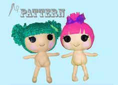 Pattern: Lala-Oopsy, Little Sister Rag Doll. $4.00, via Etsy.