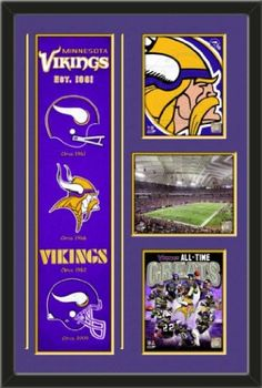 Minnesota Vikings Banner With Logos - Minnesota vikings logo photo, Mall of America Field photo, Minnesota Vikings All Time Greats Composite photo Framed With Different Team Photos-Awesome & Beautiful-Must For Any Fan! Art and More, Davenport, IA http://www.amazon.com/dp/B00GUB8W2Q/ref=cm_sw_r_pi_dp_HDiHub0ZMJETG
