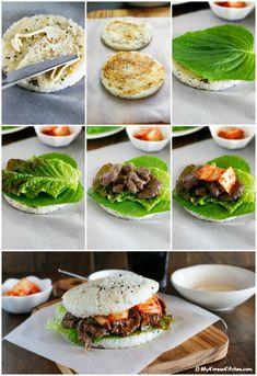 How to make Bulgogi Rice Burger   MyKoreanKitchen.com