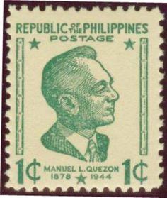 Philippines Stamps 1946-1949 - President Manuel L Quezon