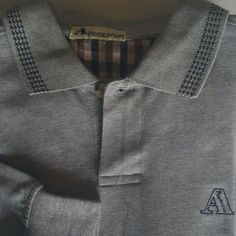 AQUASCUTUM Men's Cotton Polo Rugby Casual Shirt Size Small Long Sleeve Gray | Clothing, Shoes & Accessories, Men's Clothing, Casual Shirts | eBay!